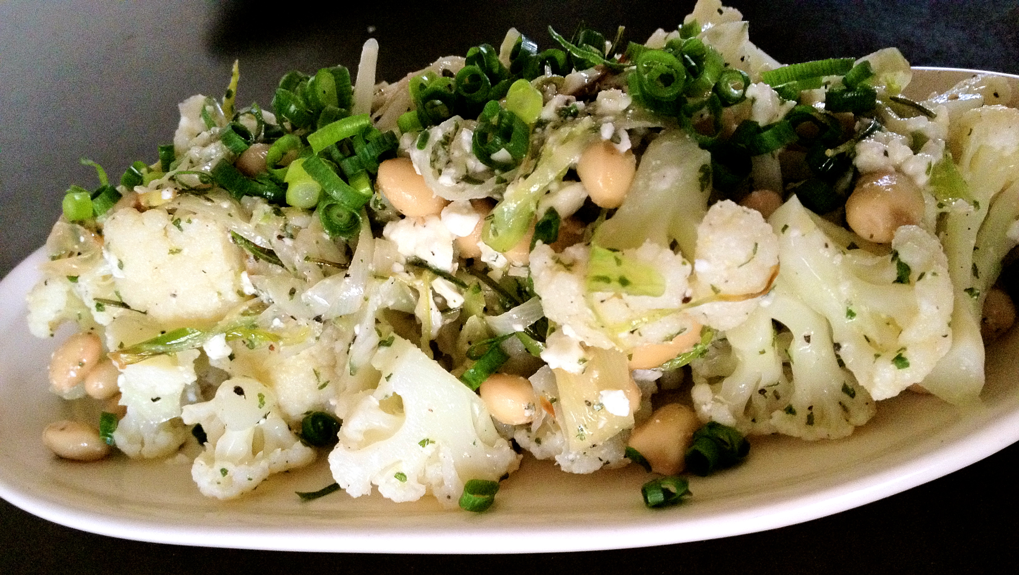 feta salad cauliflower white bean feta cauliflower salad with beans ...